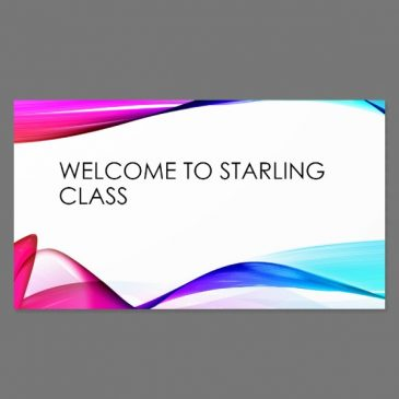 Starling Class Welcome – Sep 20